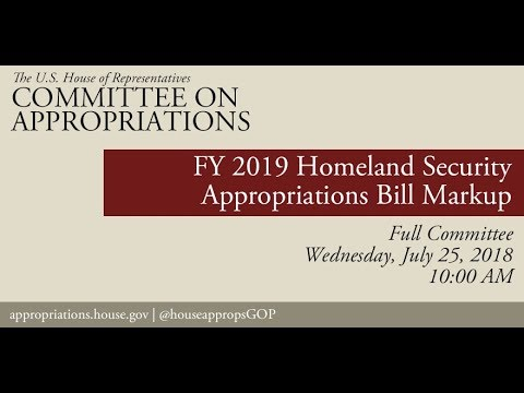 Markup- FY19 DHS Bill/Revised Report Suballocation of Budget Allocations for FY19 (EventID=108623)