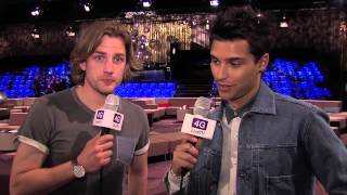 Pop Star Eric Saade. Exclusive Eurovision interview directly from the green room