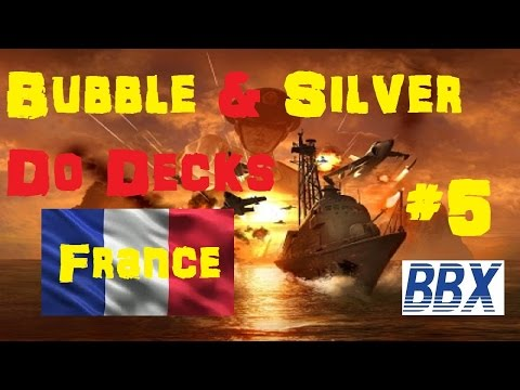 Wargame Red Dragon Deck building and Gameplay - France. Bubble and Silver do decks.