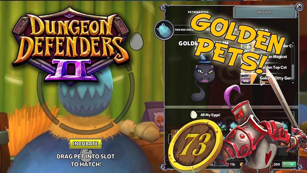 How To Get Golden Eggs, Hatch Gold Pets - Dungeon Defenders 2 Gameplay Ep 73