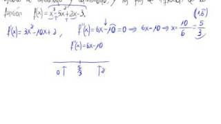 Concavidad y convexidad, puntos de inflexión
