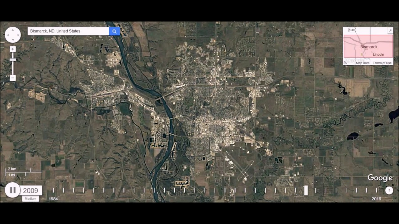 Bismarck North Dakota Urban Sprawl Time Lapse YouTube