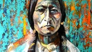 Painting Sitting Bull - The Holy Native American Chief