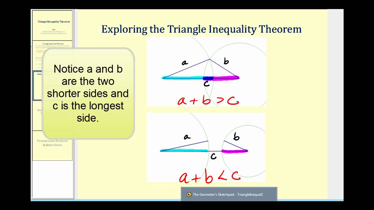 worksheet Triangle Inequalities Worksheet triangle inequality theorem youtube