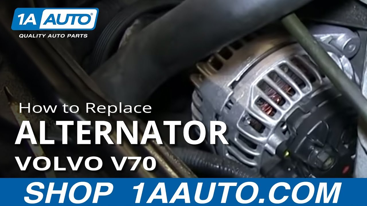 how to install replace alternator 1999 04 volvo v70 s60 s70
