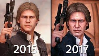 Han Solo Battlefront 1 (2015) vs Battlefront II (2017) Graphics Comparison