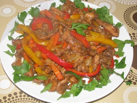 Куриное филе по-китайски. Ингредиенты: куриное филе