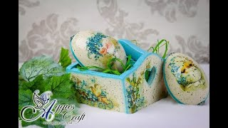 Decoupage Tutorial - Easter Eggs with Basket - DIY