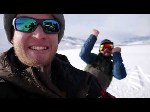 ICE FISHING - GLACIER TROUT AND PERCH - DAILY LAKE - Montana