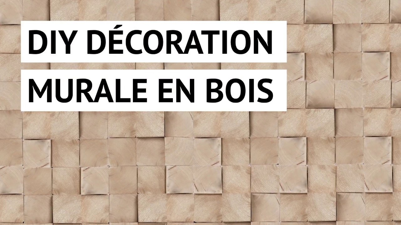 Diy d coration murale en bois youtube - Fabriquer table murale rabattable ...
