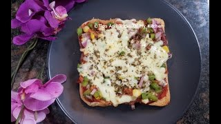Bread Pizza On Tawa | How To Make Bread Pizza | Bread Pizza Recipe | Bread Pizza Without Oven