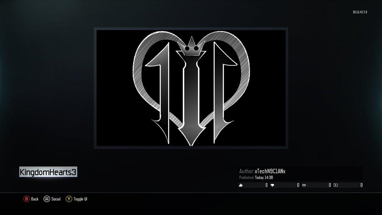 Kingdom Hearts 3 Logo Speed Build Tutorial Black Ops 3 Emblem