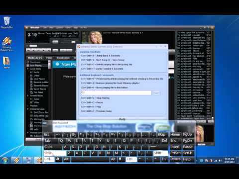 How To Use Winamp Delete Current Song Software