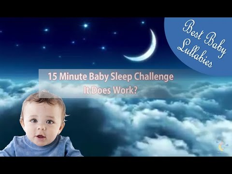 BABY SLEEP 15 MINUTE CHALLENGE - LULLABY SONGS TO PUT A BABY TO SLEEP FAST