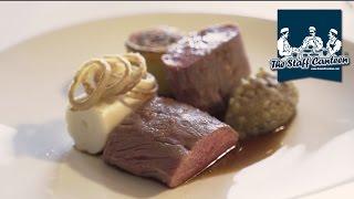 Michelin star chef Graeme Cheevers creates Scotch lamb with aubergine and onion sauce