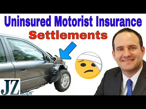 Uninsured Motorist Car Insurance Settlements and Claims for Injuries