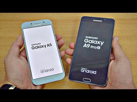 Samsung Galaxy A5 (2017) vs Galaxy A9 Pro - Speed Test! (4K)