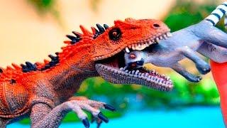 Динозавры. Лемур и динозавры. Мультики для детей. Игрушки видео.