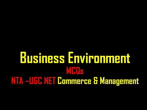 mcq on business environment || UGC NTA Net Commerce & Management|| 8948156741 thumbnail