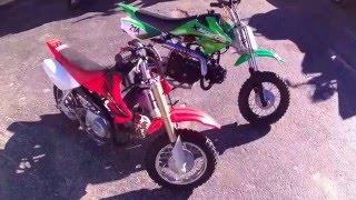 2004 Honda crf50 vs  Xmoto 70cc