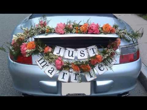 Auto Dekorationen Hochzeit