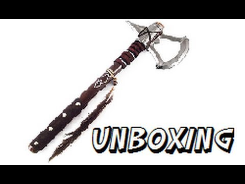 Assassins Creed 3 Real Tomahawk Unboxing Youtube