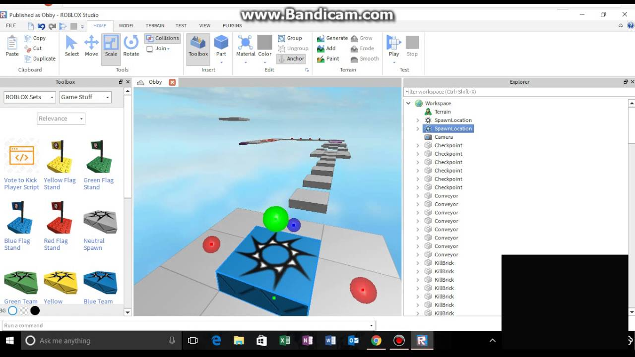 how to make your own spawn point on roblox