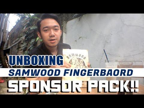 Samwood Fingerboard : Unboxing Sponsor Pack