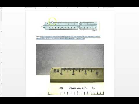 Using a Scale for 1 Inch Equals 150 Feet