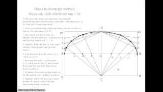 Engineering Drawing: Forming an ellipse inside a rectangle