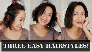 Three Easy Hairstyles For Short Hair | Laureen Uy