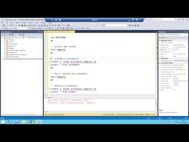Create or Alter no SQL Server