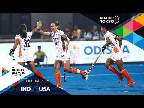 India Vs USA | FIH Hockey Olympic Qualifiers | Women's | Match 1