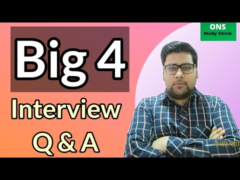 Big 4 Interview Questions And Answers | Delloite | PWC | ENY | KPMG