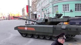 Русский танк Т-14 'Армата' припарковался!) ! RUSSIAN Т-14 ARMATA PARKED, PARKING TANK!