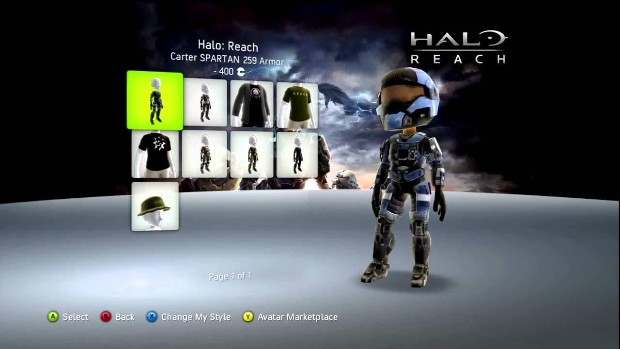 halo reach avatar marketplace items youtube