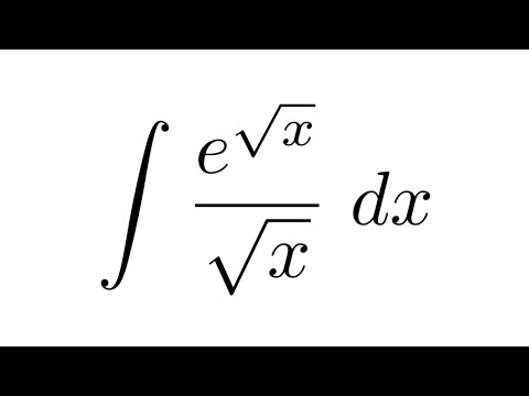 integral of e sqrt x sqrt x substitution youtube