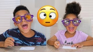 GOOGLY EYES CHALLENGE with FamousTubeKIDS