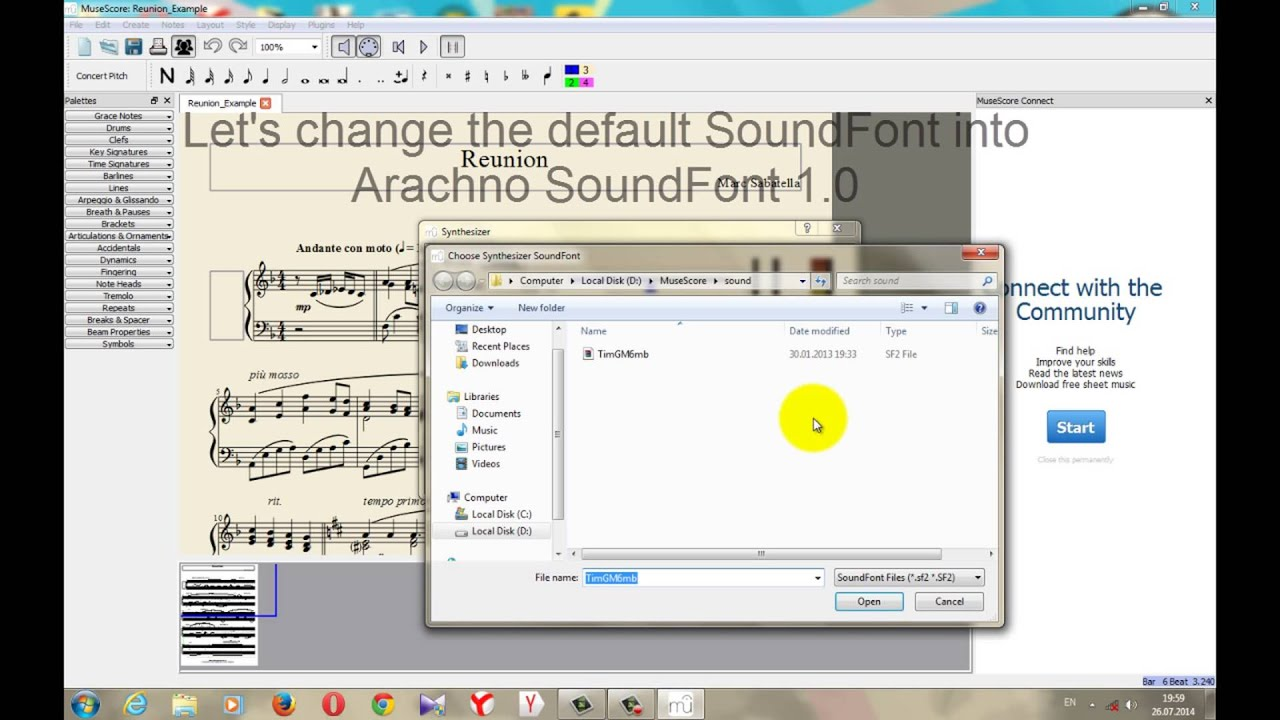 How To Change MuseScore SoundFont