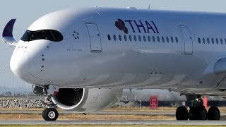 Airbus A350 Landing & Takeoff in 4K   Thai Airways   Melbourne Airport Plane Spotting