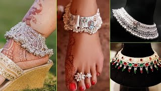 Latest Bridal Anklets Design 2019 || Silver Payal Designs || Bride Anklets Designs