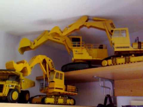 my mining model collection, liebherr, cat, komatsu etc