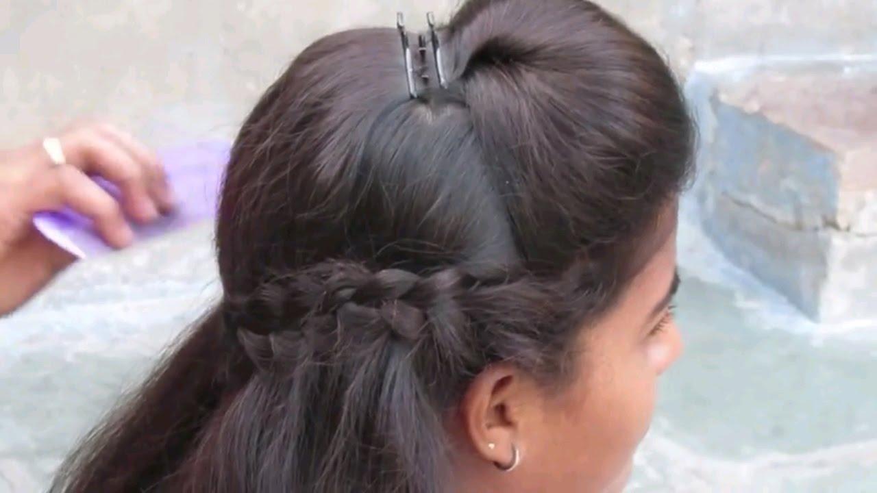 Hairstyle For Medium Hair - YouTube