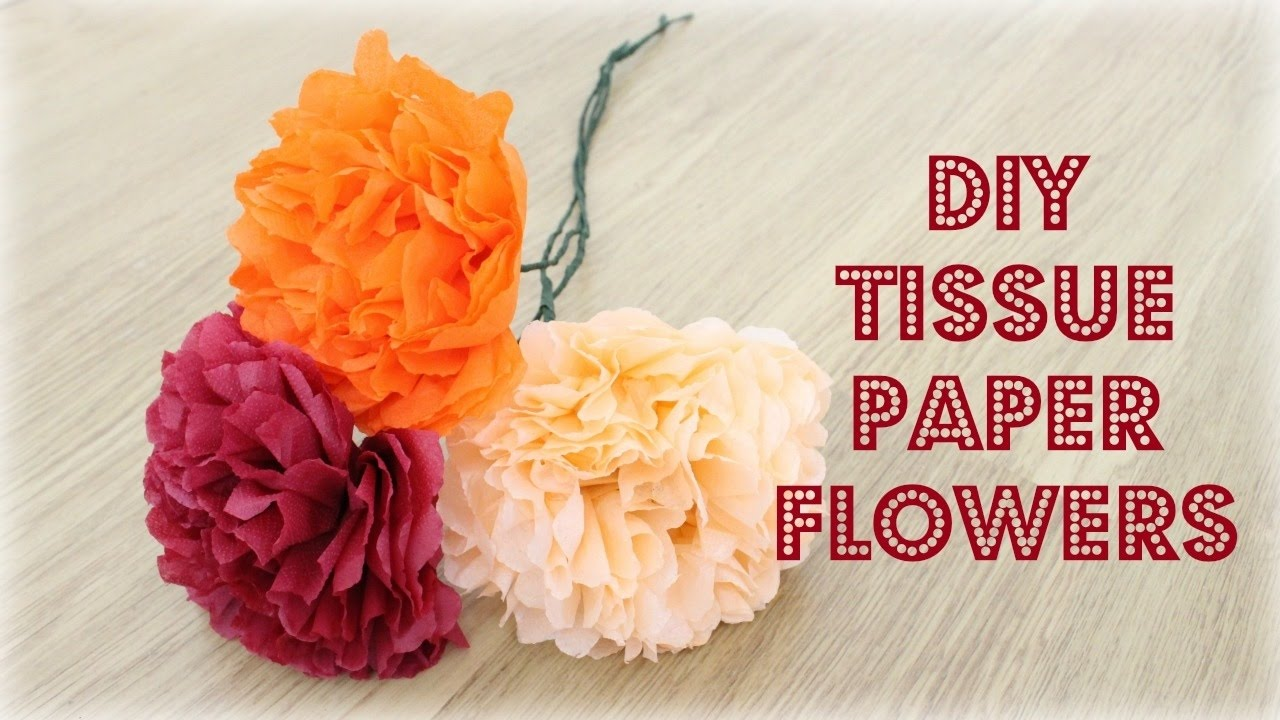 Easy Diy Tissue Paper Flowers Valentines Gift Ideas Fall Room