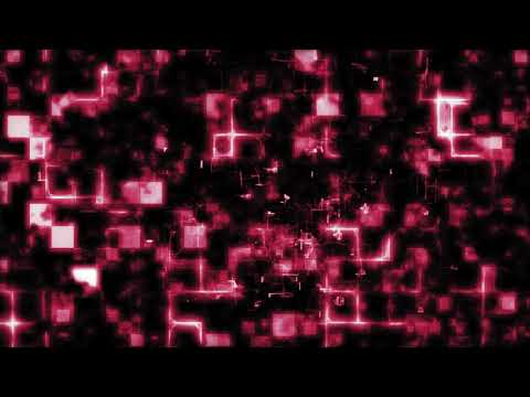 【動画素材】かっこいいサイバー空間な背景素材(赤)