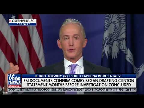 Chairman Gowdy on Special Report with Bret Baier (10/18/2017)
