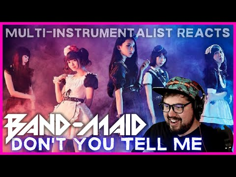 BAND-MAID ICONIC POWER TRIO 'Don't You Tell Me' Live   Multi-Instrumentalist Reaction + Breakdown
