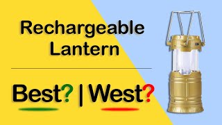 Rechargeable Camping Lantern 6 LED With inbuilt Power bank