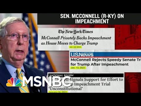 A Look At Senator McConnell's Timeline On Trump's Second Impeachment   MTP Daily   MSNBC