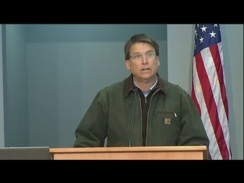 Gov. Pat McCrory talks about conditions in North Carolina